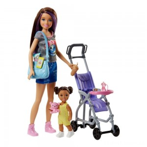 Barbie Skipper Babysitters Inc. Doll and Stroller Playset Clearance Sale