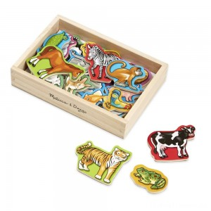 Melissa & Doug 20 Wooden Animal Magnets in a Box Clearance Sale