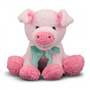 Melissa & Doug Meadow Medley Piggy - Stuffed Animal With Sound Effect Clearance Sale