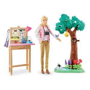 Barbie National Geographic Butterfly Scientist Playset Clearance Sale