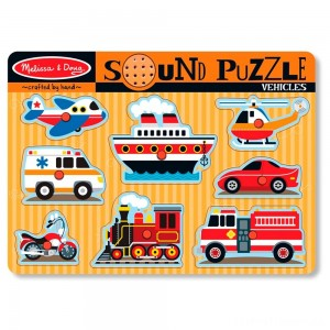 Melissa & Doug Vehicles Sound Puzzle - 8pc Clearance Sale