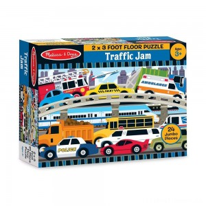 Melissa And Doug Traffic Jam Jumbo Floor Puzzle 24pc Clearance Sale