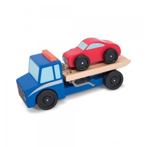 Melissa & Doug Flatbed Tow Truck Wooden Vehicle Set Clearance Sale