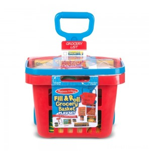 Melissa & Doug Fill & Roll Grocery Basket Playset Clearance Sale