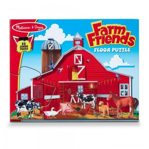 Melissa And Doug Farm Friends Jumbo Floor Puzzle 32pc Clearance Sale
