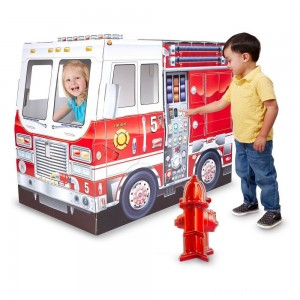 Melissa & Doug Fire Truck Indoor Playhouse Clearance Sale