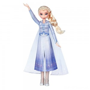 Disney Frozen 2 Singing Elsa Fashion Doll with Music - Blue Clearance Sale