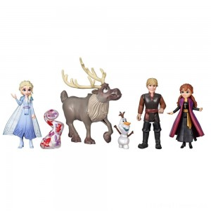 Disney Frozen 2 Adventure Collection, 5 Small Dolls from Frozen 2 Clearance Sale