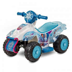 Frozen 2 Kid Trax Sing and Ride Toddler 6V Quad - White Clearance Sale