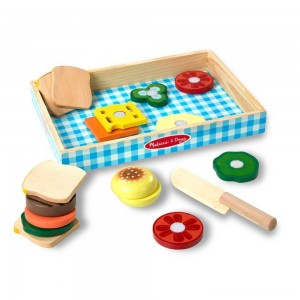 Melissa & Doug Wooden Sandwich-Making Pretend Play Food Set Clearance Sale