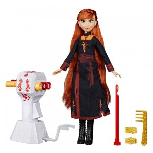 Disney Frozen 2 Sister Styles Anna Fashion Doll With Extra-Long Red Hair, Braiding Tool and Hair Clips Clearance Sale