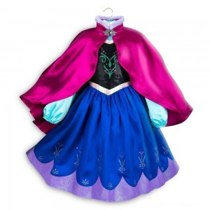 Disney Frozen 2 Anna Kids' Dress - Size 5-6 - Disney store, Girl's, Blue Clearance Sale