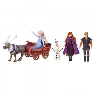 Disney Frozen 2 Sledding Adventures Doll Pack Clearance Sale