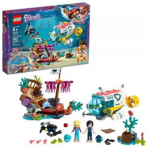 LEGO Friends Dolphins Rescue Mission 41378 Sea Life Building Kit with Toy Submarine and Sea Creatures Clearance Sale
