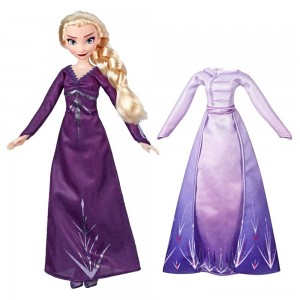 Disney Frozen 2 Arendelle Fashions Elsa Fashion Doll With 2 Outfits Clearance Sale