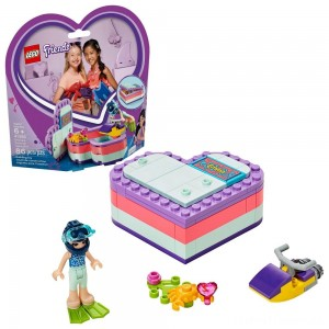 LEGO Friends Emma's Summer Heart Box 41385 Building Kit with Toy Scooter and Mini Doll 83pc Clearance Sale