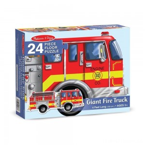 Melissa And Doug Fire Truck Jumbo Floor Puzzle 24pc Clearance Sale