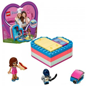 LEGO Friends Olivia's Summer Heart Box 41387 Portable Toy Mini Doll 93pc Clearance Sale