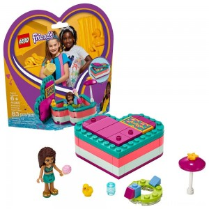 LEGO Friends Andrea's Summer Heart Box 41384 Heart Box Building Set with Andrea Mini Doll Playset 83pc Clearance Sale