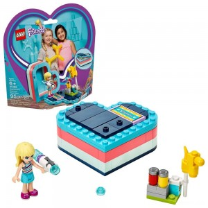 LEGO Friends Stephanie's Summer Heart Box 41386 Portable Toy Building Set, Stephanie Mini Doll 95pc Clearance Sale
