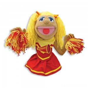 Melissa & Doug Cheerleader Puppet With Detachable Wooden Rod Clearance Sale