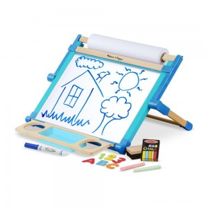 Melissa & Doug Double-Sided Magnetic Tabletop Art Easel - Dry-Erase Board and Chalkboard Clearance Sale