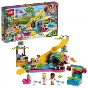 LEGO Friends Andrea's Pool Party 41374 Toy Pool Building Set with Mini Dolls for Pretend Play Clearance Sale