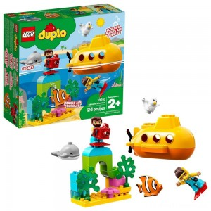 LEGO DUPLO Submarine Adventure 10910 Bath Toy Building Set for Toddlers with Toy Submarine 24pc Clearance Sale