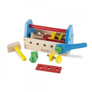 Melissa & Doug Take-Along Tool Kit Wooden Construction Toy (24pc) Clearance Sale