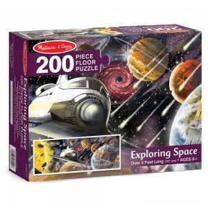 Melissa & Doug Exploring Space Jumbo Jigsaw Floor Puzzle 200pc Clearance Sale