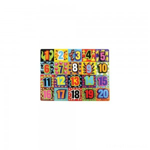 Melissa & Doug Jumbo Numbers Wooden Chunky Puzzle (20pc) Clearance Sale