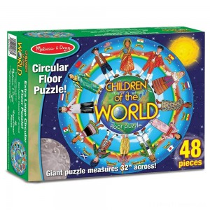 Melissa And Doug Children Of The World Jumbo Floor Puzzle 48pc Clearance Sale