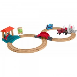 Fisher-Price Thomas & Friends Wood Racing Figure-8 Set Clearance Sale