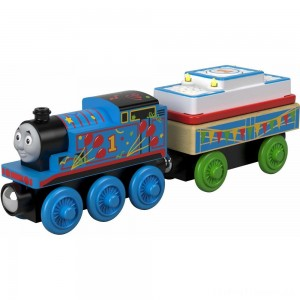 Fisher-Price Thomas & Friends - Birthday Thomas the Tank Engine - Wood Clearance Sale
