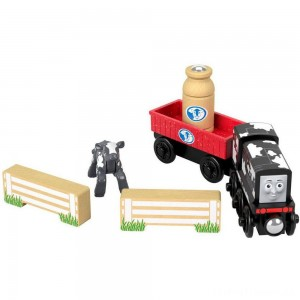 Fisher-Price Thomas & Friends Wood Diesel's Dairy Drop-off Clearance Sale
