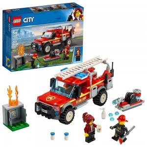 LEGO City Fire Chief Response Truck 60231 Building Set with Toy Firetruck and Ladder 201pc Clearance Sale