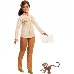 Barbie National Geographic Doll with Monkey Clearance Sale