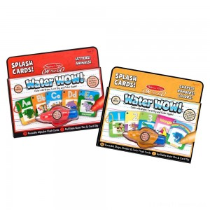 Melissa & Doug On the Go Water Wow Splash Cards, 2-Pack - Alphabet and Numbers and Colors Clearance Sale