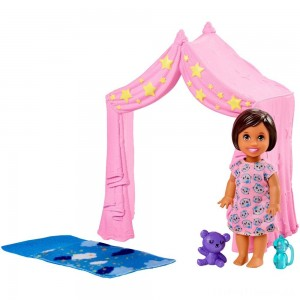 Barbie Skipper Babysitter Inc. Doll & Sleepover Playset Clearance Sale