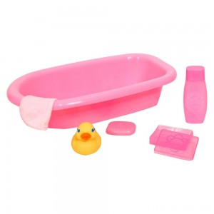 Melissa & Doug Mine to Love Baby Doll Bathtub and Accessories Set (6pc) Clearance Sale