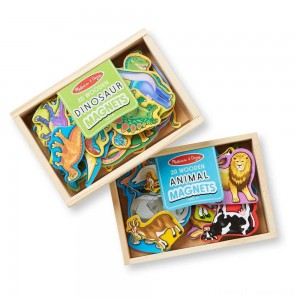 Melissa & Doug Wooden Magnets Set - Animals and Dinosaurs With 40 Wooden Magnets Clearance Sale