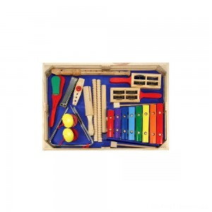 Melissa & Doug Deluxe Band Set With Wooden Musical Instruments and Storage Case Clearance Sale