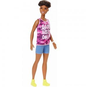 Barbie Fashionistas Doll #128 Good Vibes Only Clearance Sale