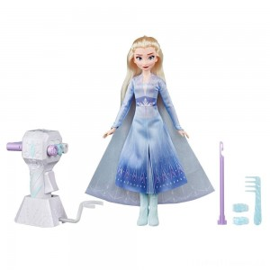 Disney Frozen 2 Sister Styles Elsa Fashion Doll With Extra-Long Blonde Hair, Braiding Tool and Hair Clips Clearance Sale