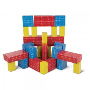 Melissa & Doug Lightweight Jumbo Cardboard Building Block Set - 40pc Clearance Sale