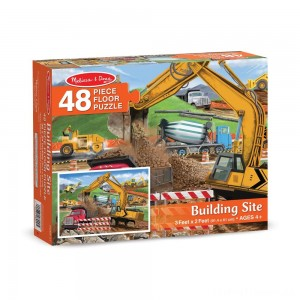 Melissa And Doug Building Site Jumbo Floor Puzzle 48pc Clearance Sale