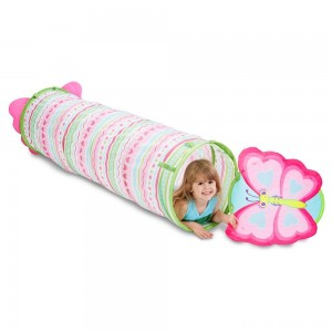 Melissa & Doug Sunny Patch Cutie Pie Butterfly Crawl-Through Tunnel (almost 5 feet long) Clearance Sale
