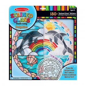 Melissa & Doug Stained Glass Made Easy Craft Kit: Dolphins - 180+ Stickers Clearance Sale