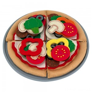 Melissa & Doug Felt Food Mix 'n Match Pizza Play Food Set (40pc) Clearance Sale