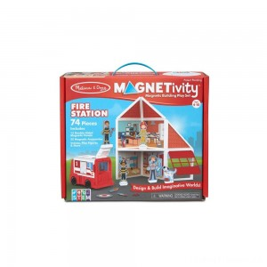 Melissa & Doug Magnetivity - Fire Station Clearance Sale